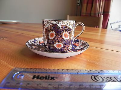 A bone china Cup and Saucer  made by E J D BODLEY  C 1885 Imari pattern