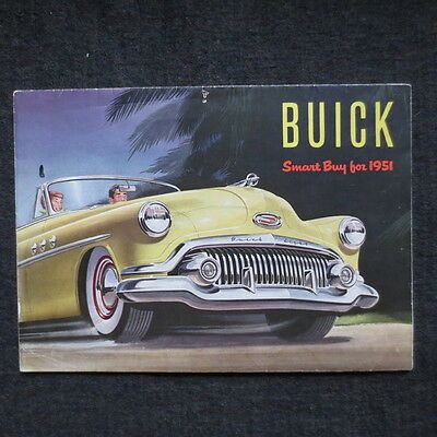 1951 Buick fold out brochure Canadian market