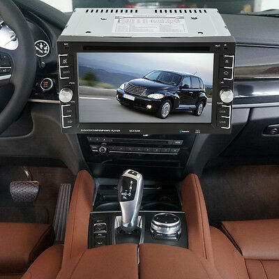 """Double 2 Din 6.2"""" In Dash Stereo Car DVD MP3 Player Bluetooth Radio iPod NEW MY"""