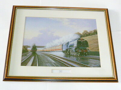 Framed Locomotive Print Of Royal Scot Express 1950 From Painting By Barry Price