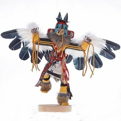 Hand Carved Painted Eagle Dancer Kachina Doll Navajo