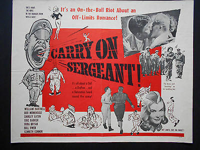 CARRY ON SERGEANT Movie Poster WILLIAM HARTNELL Shirley Eaton KENNETH CONNOR