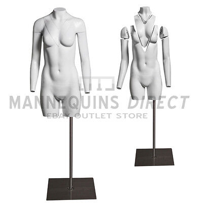 Fiberglass Female Ghost/ Invisible Torso Mannequin Bust Body Form With Stand