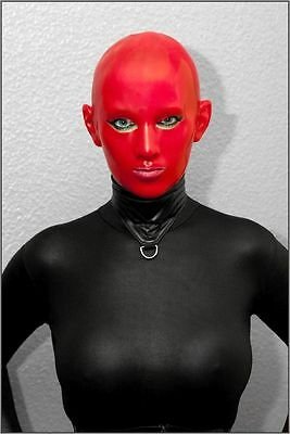 "Latexmaske "" Red Staar narrow eyes "" Mask Maske Rubber Latex  size small -NEU-"