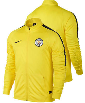 Manchester City Nike Giacca Allenamento Training Jacket Giallo Dry Squad knit
