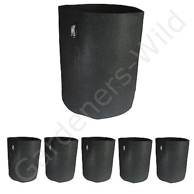 26L x6 FABRIC AIR PRUNING PLANT POT ROUND PLANTIT dirt fibre hydroponic planter