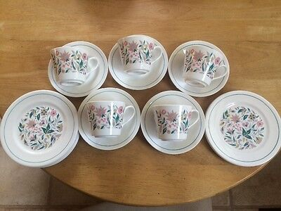 Queen Anne Kismet Bone China Cups Saucers Side Plates