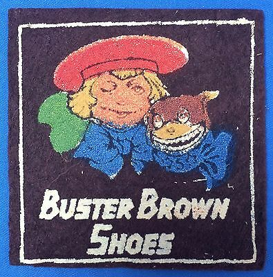 Vintage Original BUSTER BROWN & Tigue SHOES Advertising FELT