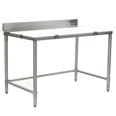 "Eagle Group BT36108S 108""Wx36""D Boning Table w/ 4"" Stainless Steel Backsplash"