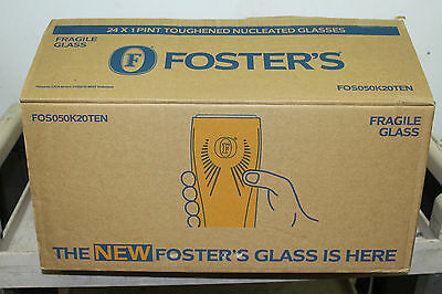 Fosters pint glasses
