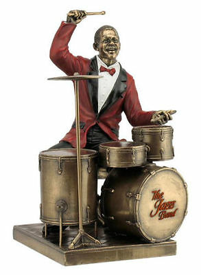 Drum Play Statue Sculpture Figurine - Jazz Band Collection  - Great Gift!