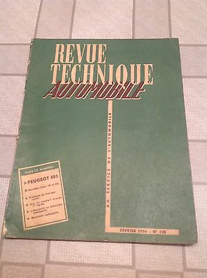 Revue Technique Automobile -  Peugeot 403   - N° 118  -   02 / 1956