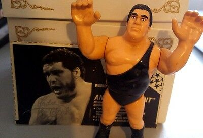 WWE WWF Hasbro Wrestling Figur Andre the Giant 1990 Serie 1 mit Card