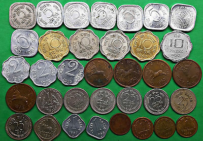 Lot of 35 Republic of India Coins 1954-1987 Vintage South Asian !!