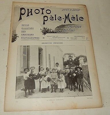Revue PHOTO PELE-MELE Août 1904 N° 60 Secrets de la photographie - Pubs CADOT...