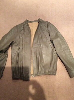 "Gents Vintage Leather Blouson Jacket 46"" Chest"