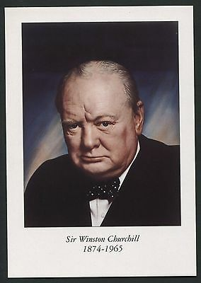 Sir Winston Churchill postcard produced for Blenheim Palace - XX049