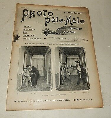 Revue PHOTO PELE-MELE Août 1904 N° 61 Pub A. CADOT Ticket - Physiographe Sinnox