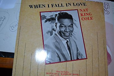 """Nat King Cole    When I Fall In Love  12"""" Single  Very Rare   Free Postage"""