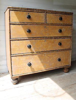 Regency Faux Bamboo Chest Of Drawers Early 19th Century Antique