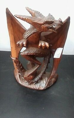 hand carved dragons