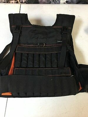 Fitness Gear Weight Vest With Weights 40 Lb Adjustable