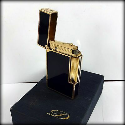 Vintage Genuine Dupont Lacquer & Gold With Box - Black