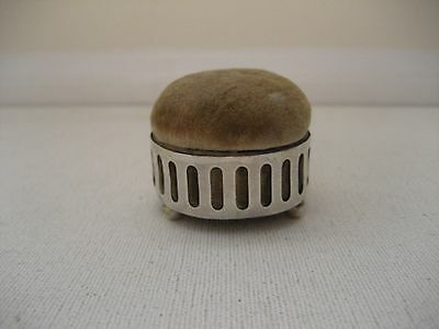 Vintage Sterling Silver Footed Pin Cushion Jewelry Box w/  Webster Company Mark