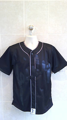 Mens Sik Silk Premium Lined Baseball Jersey In Black Size Small Rrp £99.99