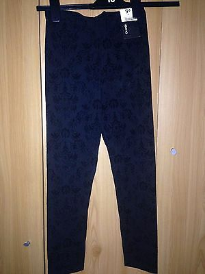 Brand New With Tags -girls patterned leggings - age 10-11