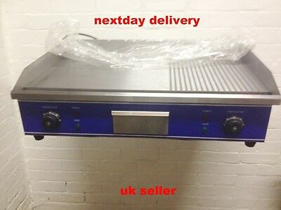 Large 73Cm Stainless Steel  Flat/ribbed Commercial   Electric Griddle