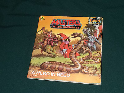 A HERO IN NEED* He Man Masters of the Universe Golden Book Comic 1986 TOP+RAR