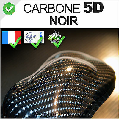 Carbone 5D noir Autocollant Thermoformable, glossy finish wrap Sticker Déco PRO