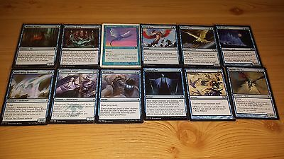 100 BLUE Magic The Gathering Cards. ALL DIFFERENT. New Sleeves. PICTURES OF ALL