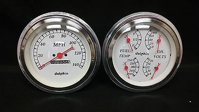 """1947 1948 1949 1950 1951 1952 1953 Chevy Truck Cluster White 5"""""""