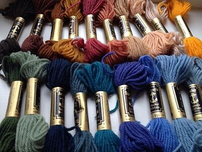 20 X 10M Tapestry Wools Assorted Colours