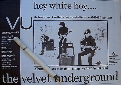 THE VELVET UNDERGROUND 1979 - 1995 CLIPPINGS LOT andy warhol