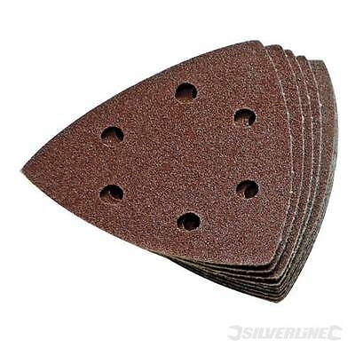 Hook and Loop 90mm Detail Sanding Sheets 240 Grit Triangle Sandpaper 10pk