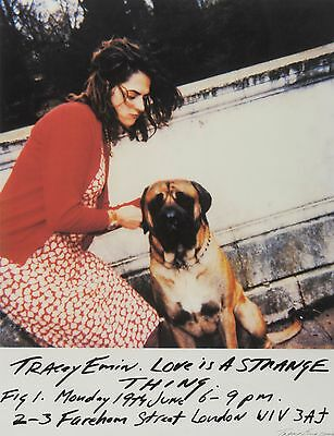 Signed Tracey Emin Limited Edition print Love is a Strange Thing