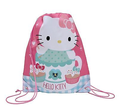 HELLO KITTY - Drawstring Trainer Bag - Sports PE Gym Bag
