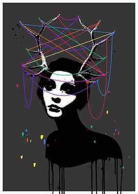EELUS  TAMING OF A WILD MIND Signed  Limited Edition print Like, Banksy. Dolk.