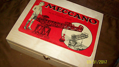 1951 HORNBY MECCANO SET No 8 100% PARTS COMPLETE. WITH NEW WOODEN BOX
