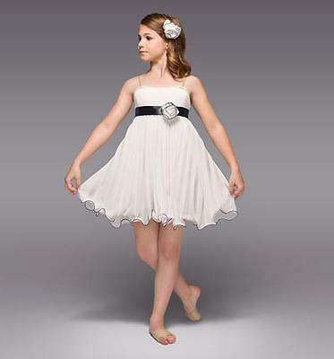 NEW Dance Costume Large Child Ivory Lyrical Solo Competition Contemporary