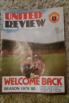 football program.  united review. 22/08/1979
