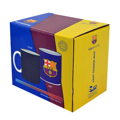 Fc Barcelona Fcb New Heat Changing Ceramic Tea Coffee Latte Mug Cup Xmas Gift