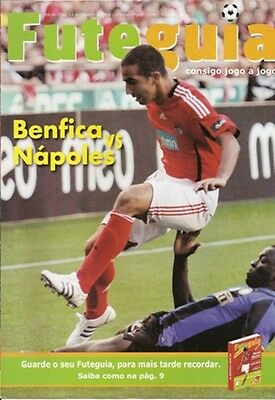 PROGRAMME SL BENFICA x SSC NAPOLI UEFA CUP 08/09