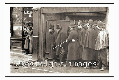Photo Taken From A 1911  Image Of The Police At The Sydney Street Siege