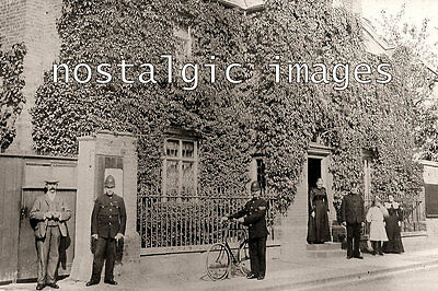 Photo Taken From An Edwardian Postcard Of Police In The Village Of Ixworth