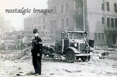 Photo Taken From A War Time Image -Policeman In Southshields After Air Raid 1941