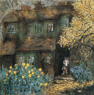 Tale of Tales Y.Norstein's animation Signed Giclée (Little Wolf & Old House)